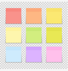 sticky paper note on transparent background vector image