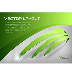 stripes green vector image