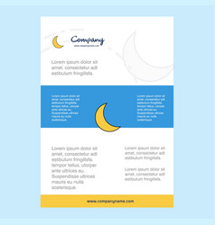 Template layout for cresent comany profile annual vector