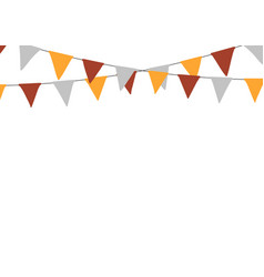 thanksgiving bunting flags holiday decorations vector image