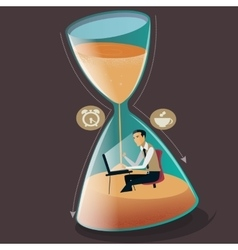 Time managment concept vector image