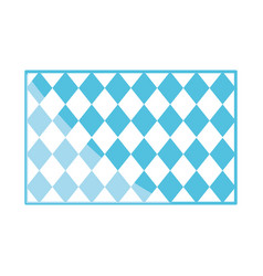 traditional blue checkered pattern shape flat icon vector image
