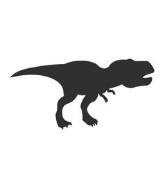 tyrannosaurus rex silhouette t-rex dinosaur vector image
