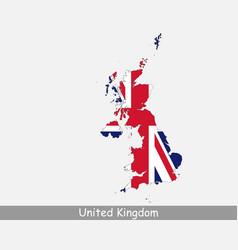 united kingdom uk map flag vector image