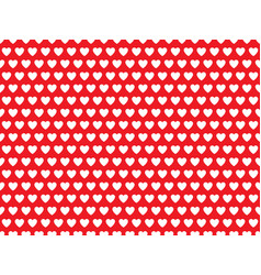 White hearts on red background pattern vector