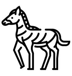 Zebra line vector