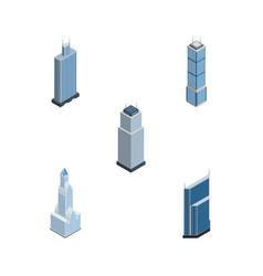 Isometric skyscraper set of cityscape tower vector