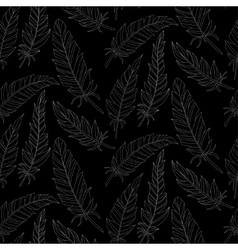 Seamless background vintage carved feathers vector