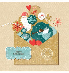 Set of Christmas and new year element vector image vector image