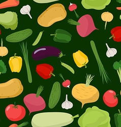 Vegetables seamless pattern background of tomatoes vector image vector image