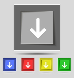 Arrow down Download Load Backup icon sign on the vector image