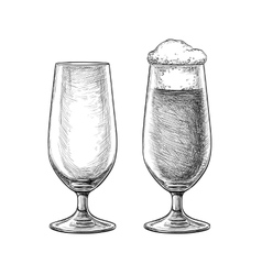 Beer glasses skatch vector image