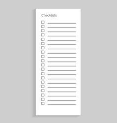 checklist empty sheet of paper vector image vector image