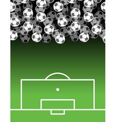 football field and Ball Lot of balls Soccer vector image vector image