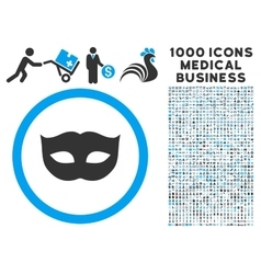 Privacy Mask Icon with 1000 Medical Business vector image