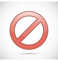 Red prohibition sign icon vector image