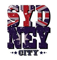 Sydney City T-shirt Typography vector image vector image