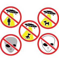 UFO Warning Signs vector image