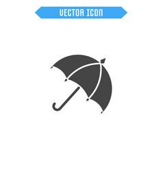 umbrella icon flat parasol icon vector image