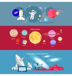 Concept Space Exploration Cosmic Industry vector image