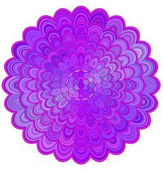purple abstract floral mandala ornament design - vector image vector image