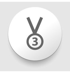 3rd Position Medal Icon - vector image