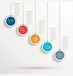 abstract business background infographic vector image
