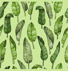 abstract seamless leaves pattern vector image