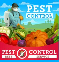 Agriculture pest control service exterminator vector