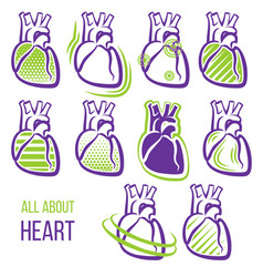 All about heart vector
