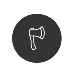 axe icon in modern style for web site and mobile vector image