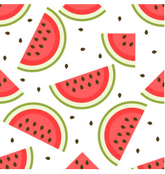 Background with tasty and sweet watermelon vector