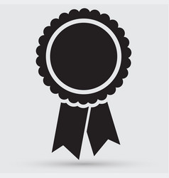badge with ribbons icon vector image