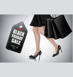 black friday sale background with elegant vector image