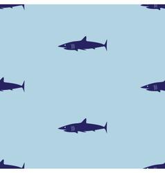 blue sea shark fish seamless pattern eps10 vector image
