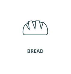 bread line icon bread outline sign vector image
