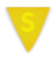 Bunting flag letter s vector