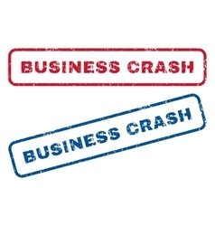 Business Crash Rubber Stamps vector image