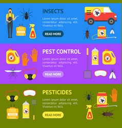 cartoon pest control service business banner vector image