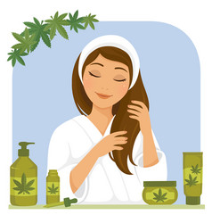 cbd hair products vector image