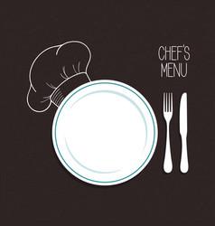 chefs menu vector image