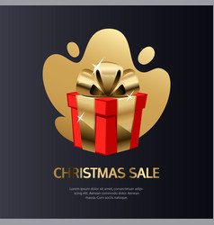 christmas sale card gold vector image