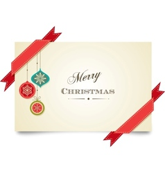 Christmas vintage greeting card vector