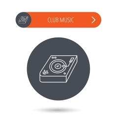 Club music icon DJ track mixer sign vector