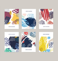collection of card postcard or flyer templates vector image