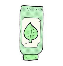 Comic cartoon herbal remedy vector