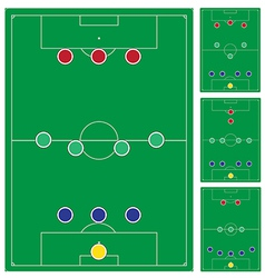 Common modern soccer formation set vector