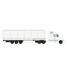 container trailer truck with cistern vector image