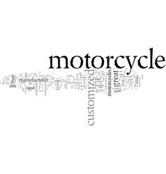Customized motorcycles vector