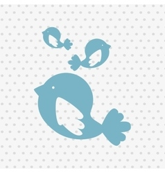 cute birds design vector image